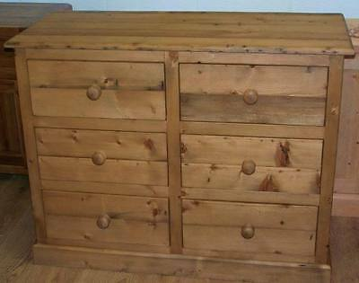 Old Reclaimed Pine Antique Style 6 Deep Drawers Chest We Can Make Any Size