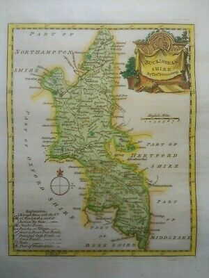 Antique map of Buckinghamshire by Thomas Kitchin 1760