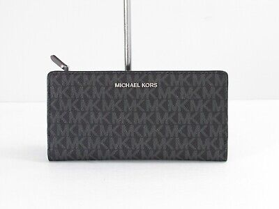53e3a837ce35 MICHAEL KORS LARGE Crossgrain Leather Slim Wallet Card Case Carryall ...