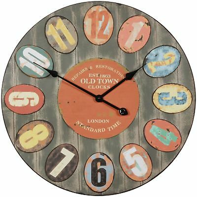 Vintage wall clock XXL Ø 60 cm London Old-Town metal big clock decorative retro