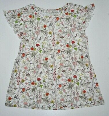 Next 7 Years Girls Summer Floral T- Shirt Top Blouse