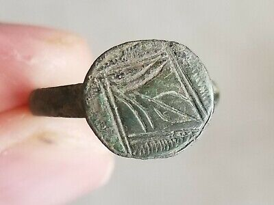 Authentic Ancient Roman Empire Legionary Intact & Wearable Bronze Ring Sz 9