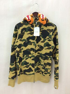 ff8a4fe00e9d A BATHING APE 1ST CAMO SHARK FULL ZIP HOODIE YELLOW (S) Bape Authentic Rare