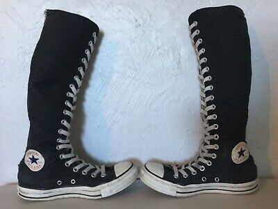 553cf2141e05 Converse All Star Zip Up Lace Chuck Taylor Knee High Top Sneakers Women s  Size 5