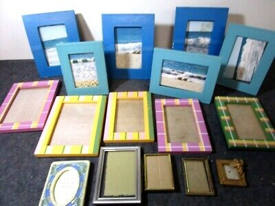 variety of 16 used vintage wood picture & photograph frames