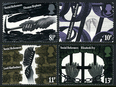 Great Britain 781-784, MNH. 19th century industrial and social reformers, 1976