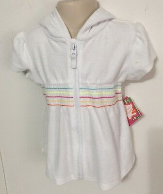 aa430577b6 Nursery Rhyme Girls White Terry Cloth Hooded Swimsuit Cover Up Size 18 Mos  NWT