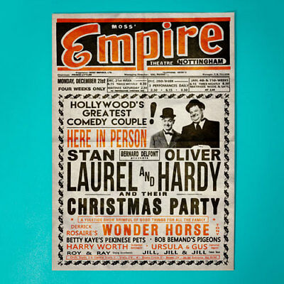 Laurel and Hardy - Empire Theatre NOTTINGHAM - Stan & Ollie - Large Poster