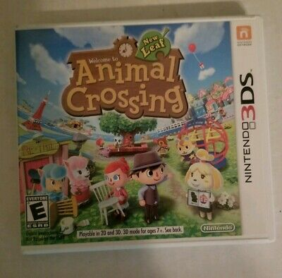 Animal Crossing: New Leaf (Nintendo 3DS, 2013) Authentic Tested Working Complete