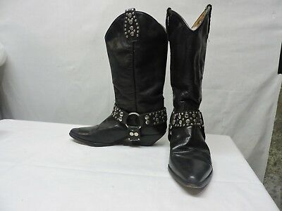 67ea5fb63ae VINTAGE GUESS BY Marciano Ankle Slip On Black Cowboy Boot Shoe Spain ...