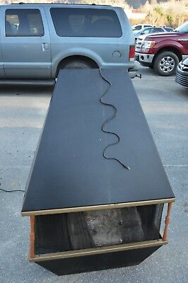 Vintage Electric Fireplace Wall Hang Thermostat Black Paint Screen & Wood Accent