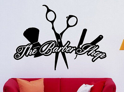 Hair Salon Wall Decal Vinyl Sticker Barber Shop Interior Mural Art Decor (7hsl)