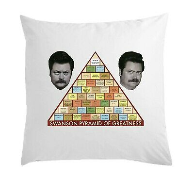 Ron Swanson Pyramid Of Greatness White Pillow Case Cushion Cover 40 cm