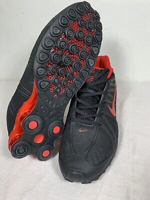 best authentic 87d54 e5adc Nike Shox Turbo OZ Running Shoes Sneakers Black Red Mens Size 11