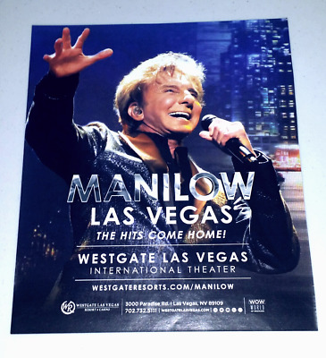 Barry Manilow The Hits Come Home! Las Vegas Ad 2018