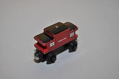 Red SODOR CABOOSE / Vintage 1996 Early Edition Thomas & Friends wooden train