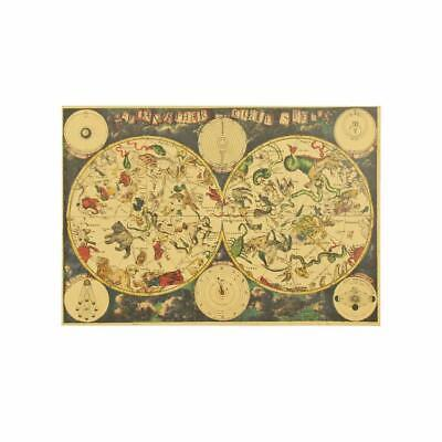 Ancient Zodiac Constellation Map Kraft Paper Poster