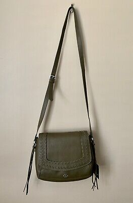 NWT Nanette Lepore Cortina Flap Black Leather Cross Body MSRP $228