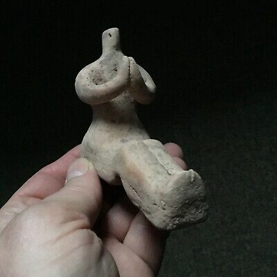 Circa 2800/2000 BCE-Early Indus Valley Harappan Dynasty Seated fertility figure.