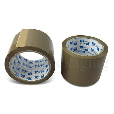 Extra Wide Brown Packing Tape 72mmx66m Polyprop Any Qty