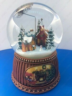 Christmas Snow Globe  by Roman Musical Tune Here Comes Santa Reindeer