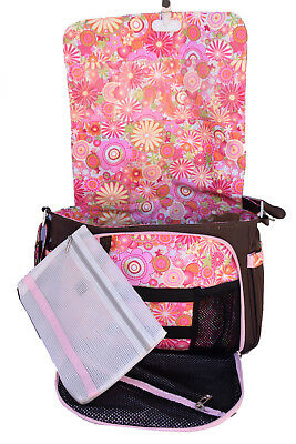 Jujube Brown and floral messenger Diaper Bag Ju-ju-be Be