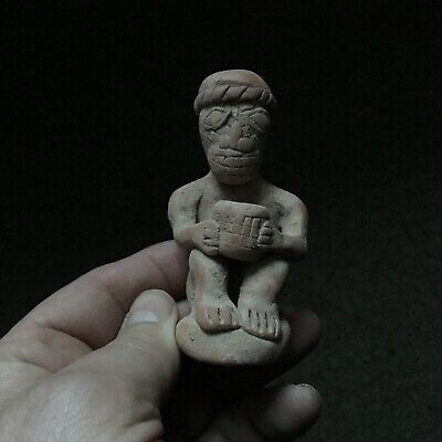 SCARCE c1180/700BCE ANCIENT SYRO HITITIE SEATED TERRACOTTA MAIL GODDESS