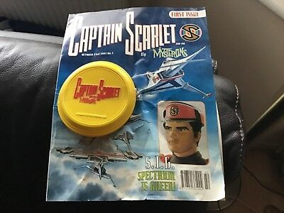 Captain Scarlet Comic 1993 Issue 1 with rare promotional toy disc
