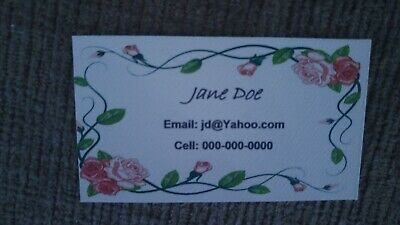 10 PERSONALIZED BUSINESS CARDS Full Color