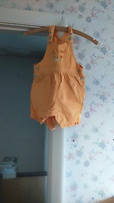 TESCO girls dungaree,size 2/3yrs,worn twice excellent condition,100%cotton