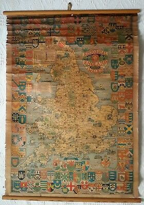 Vintage Historical Map of England and Wales by John Bartholomew & Son Ltd.