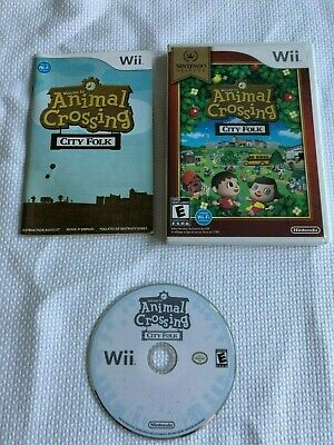 Animal Crossing City Folk Nintendo Selects Wii Complete CIB Tested Works