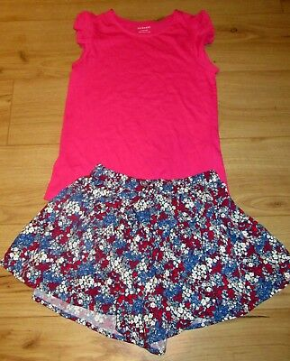 £31 girls Floaty Shorts skirt Top T Outfit  NEXT age 11 12 years CHRISTMAS gift