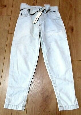 girls jeans diesel nyoka age 8 - 9 years CHRISTMAS GIFT blue bow top AUTHENTIC