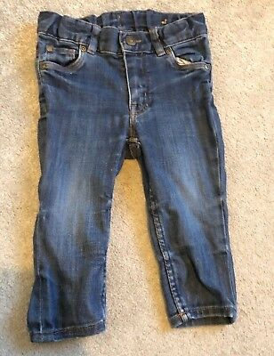Baby Toddler Boys H&M Jeans Blue Denim Stretch Slim Age 6-9 Months Boys Girls