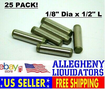 "(25 PACK!) Stainless Steel Dowel Pins 1/8"" Dia x 1/2"" Long FREE SHIPPING! NH"
