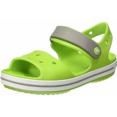 19dddfe813330 Crocs Crocband Sandal Kids Volt Green Fumée Croslite Enfant Sangle Sandales