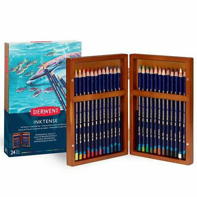 Boîte de crayons aquarellable Derwent Inktense Set of 24 gift box