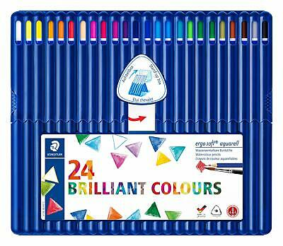 Staedtler 156 SB24 Ergosoft Aquarell, Crayons De Couleur Aquarellables Tendres P
