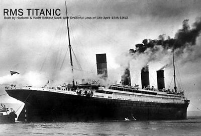 RMS Titanic, Disaster Commemorative Card with Original 1912 Coin