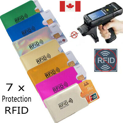 RFID Protection Credit Card Blocking Reading Data Theft Lot 7 Envelopes