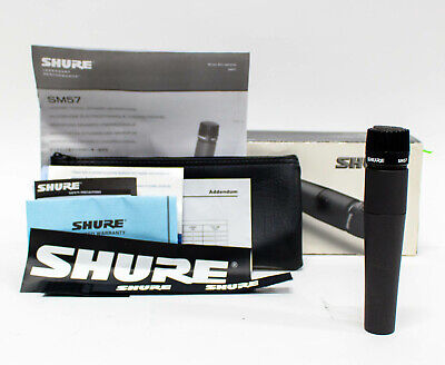 Shure SM57 Cardioid Dynamic Instrument Microphone Mic with Case Candy