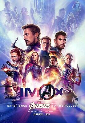 "Avengers End Game Poster Marvel Movie Textless Film Art Print Size 24x36/"" 27x40/"""