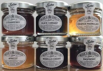 Wilkin & Sons Tiptree 48 x Mixed Mini Jams 8 Of Each, Great Wedding Favours