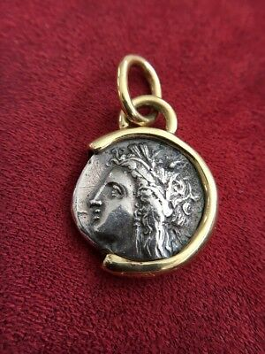 400-350BC Authentic Ancient Silver Greek Demeter / Corn Stater Coin Appraised