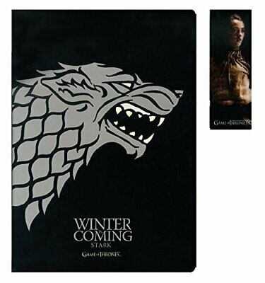 Cahier avec Aimant 'Game of Thrones' - Stark Set + Marque-Pages