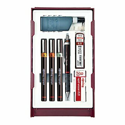 Rotring College ISOGRAPH stylo 4 mis 0,20 / 0,40 / 0,80 avec un crayon Tikky