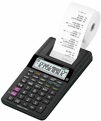 Casio HR8RCE Calculatrice Imprimante Semi Professionnelle Noir