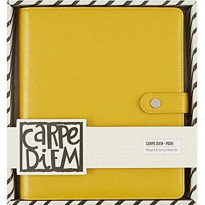 Simple Stories Carpe Diem Marigold Posh Planner en boîte, Jaune, A5