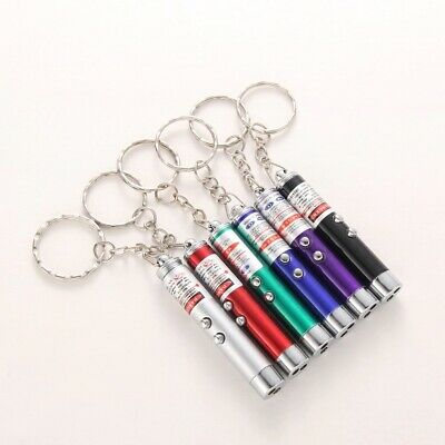 Laser Pen Mini 2 in1 Keychain LED Torch + Red Lazer Pointer Cat Pet Toy